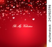 red valentines day background | Shutterstock . vector #241983598