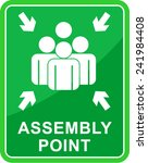 green assembly point  | Shutterstock .eps vector #241984408
