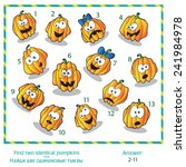 halloween visual puzzle   find... | Shutterstock .eps vector #241984978