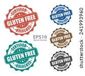 gluten free certified icon  tag ... | Shutterstock .eps vector #241993960