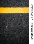 asphalt road  yellow line on... | Shutterstock . vector #241996660
