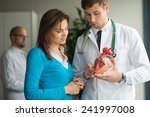 doctor consult patient with... | Shutterstock . vector #241997008