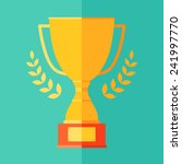 flat icon of champion  trophy ... | Shutterstock .eps vector #241997770