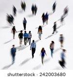 diverse diversity ethnic... | Shutterstock . vector #242003680