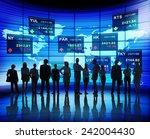 business people stock exchange... | Shutterstock . vector #242004430