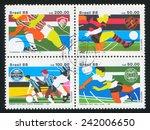 brazil   circa 1988  stamp... | Shutterstock . vector #242006650