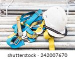 safety helmet and harness at a... | Shutterstock . vector #242007670