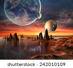 Alien Planet With Planets ...