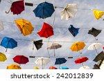 colourful colourful umbrellas... | Shutterstock . vector #242012839
