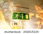 fire in the building  ... | Shutterstock . vector #242015224