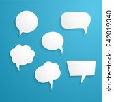 speech bubbles | Shutterstock .eps vector #242019340