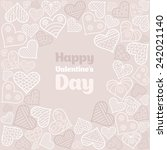 valentine's day card   Shutterstock .eps vector #242021140