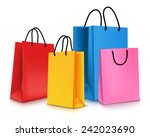 set of colorful empty shopping... | Shutterstock .eps vector #242023690