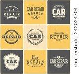 typographic car service label... | Shutterstock .eps vector #242024704