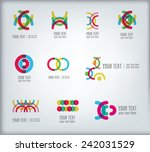 set of bright abstract design... | Shutterstock .eps vector #242031529