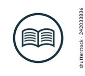 book icon  round shape ... | Shutterstock .eps vector #242033836
