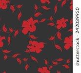vector seamless flowers ... | Shutterstock .eps vector #242039920
