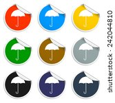 umbrella sign icon. rain...