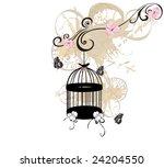illustration of a birdcage | Shutterstock .eps vector #24204550