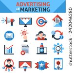 advertising marketing icons set ... | Shutterstock .eps vector #242046280