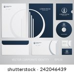 stationery template with real... | Shutterstock .eps vector #242046439