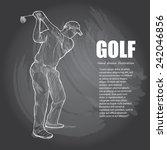 golf background design. hand... | Shutterstock .eps vector #242046856