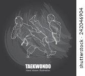 taekwondo background design.... | Shutterstock .eps vector #242046904