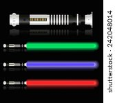 red blue and green light future ... | Shutterstock .eps vector #242048014