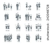 family icon black set with...   Shutterstock .eps vector #242048728