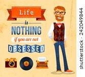 hipster trendy culture poster... | Shutterstock .eps vector #242049844