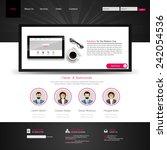 modern clean website template... | Shutterstock .eps vector #242054536