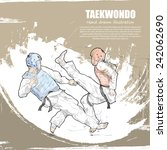 taekwondo background design.... | Shutterstock .eps vector #242062690