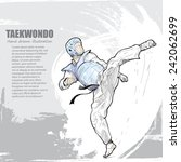 taekwondo background design.... | Shutterstock .eps vector #242062699