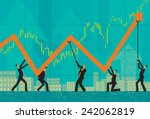 maintaining profits | Shutterstock .eps vector #242062819