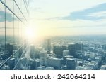 Top View Of Modern City In...