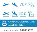aircraft or airplane icons set... | Shutterstock .eps vector #242065693