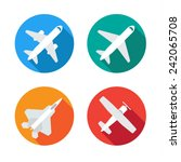 aircraft or airplane flat... | Shutterstock .eps vector #242065708