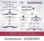 premium quality calligraphic... | Shutterstock .eps vector #242065894