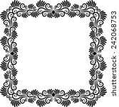 silhouette of plant frame | Shutterstock .eps vector #242068753
