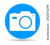 camera  icon. flat