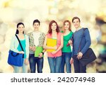 education and people concept  ... | Shutterstock . vector #242074948