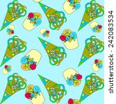 abstract octopus legs   Shutterstock .eps vector #242083534