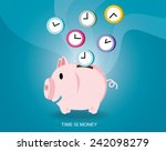 saving time design time is... | Shutterstock .eps vector #242098279