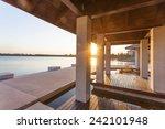resort lakeside pavilion at... | Shutterstock . vector #242101948