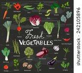 fresh vegetables | Shutterstock .eps vector #242105896