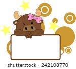 cute reindeer baby girl... | Shutterstock .eps vector #242108770