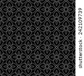 ornamental seamless pattern.... | Shutterstock .eps vector #242109739