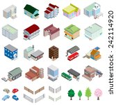 various building   solid figure | Shutterstock .eps vector #242114920