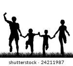 silhouette of a happy family... | Shutterstock . vector #24211987