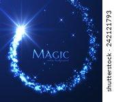 magic lights vector background. ... | Shutterstock .eps vector #242121793